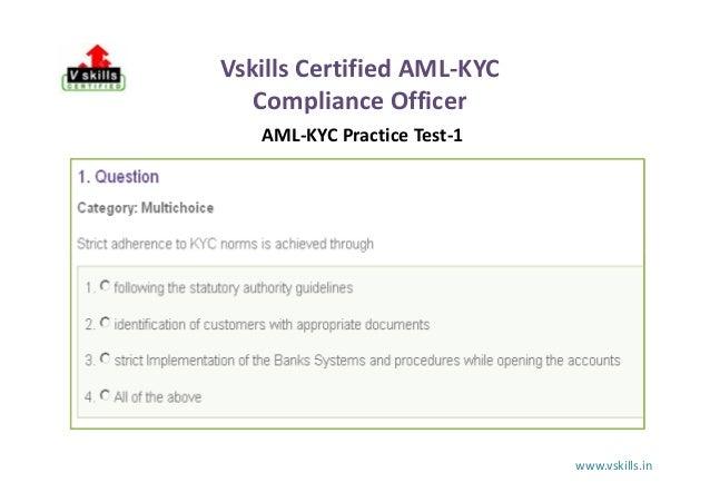 vskills aml kyc practice test
