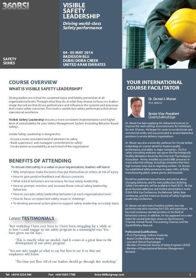 Visible Safety Leadership, 04 - 05 May 2014, Dubai UAE