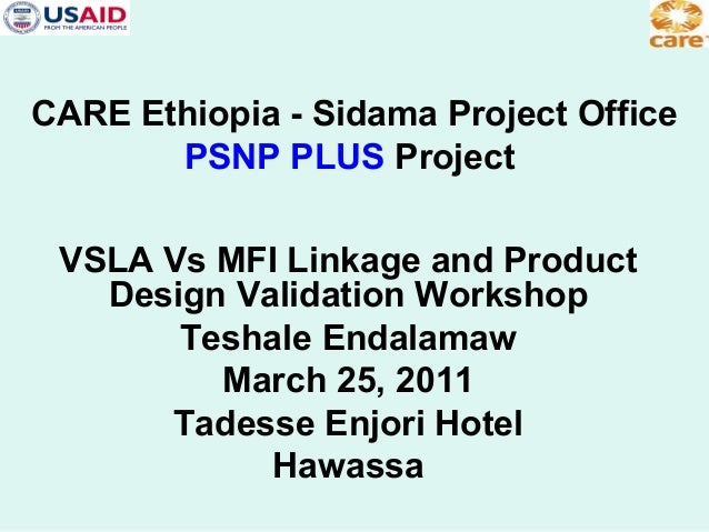 Vsla vs mfi linkage and product design study report by teshale endalamaw