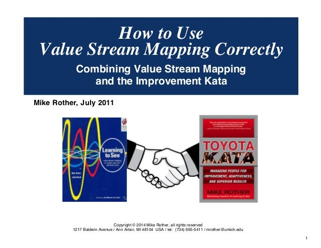 Value Stream Mapping Correctly  Combining Value Stream Mapping  and the Improvement Kata  © Mike Rother TOYOTA KATA  1  Ho...