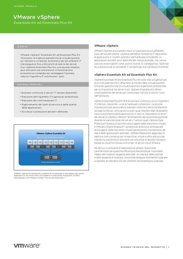 V sphere 5.1   datasheet, essentials and essentials plus - italian - it