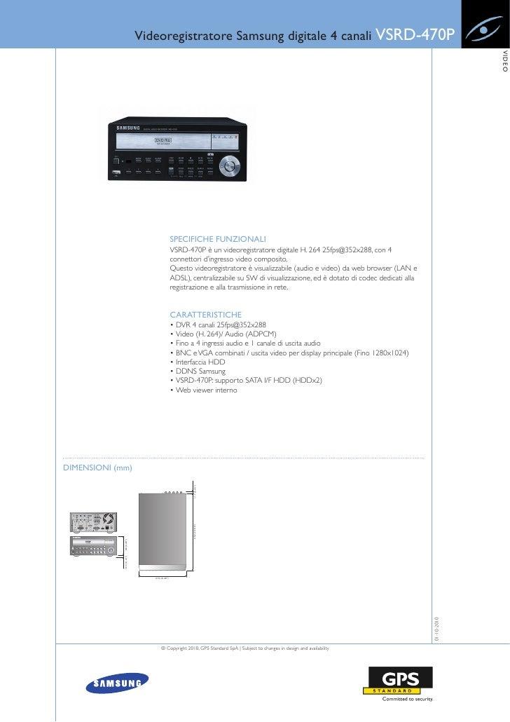 Videoregistratore Samsung digitale 4 canali VSRD-470P                                                                     ...