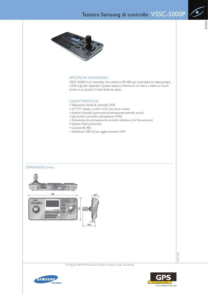 Tastiera Samsung di controllo                                     VSSC-5000P                                              ...