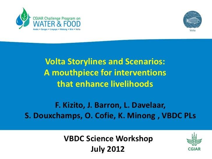 VoltaStorylinesandScenarios:     Amouthpieceforinterventions        thatenhancelivelihoods        F.Kizito,J....