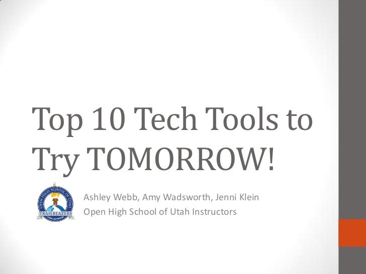 VSS 2011 Top 10 Tech Tools to Try Tomorrow