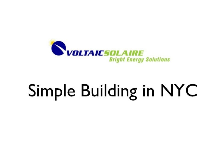 Simple Building in NYC