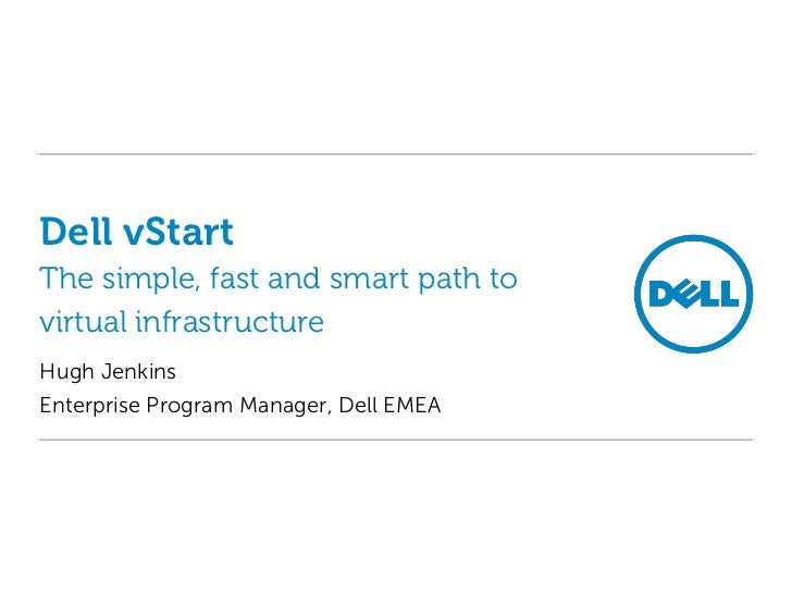 Dell vStart cloud-in-a-rack virtualization
