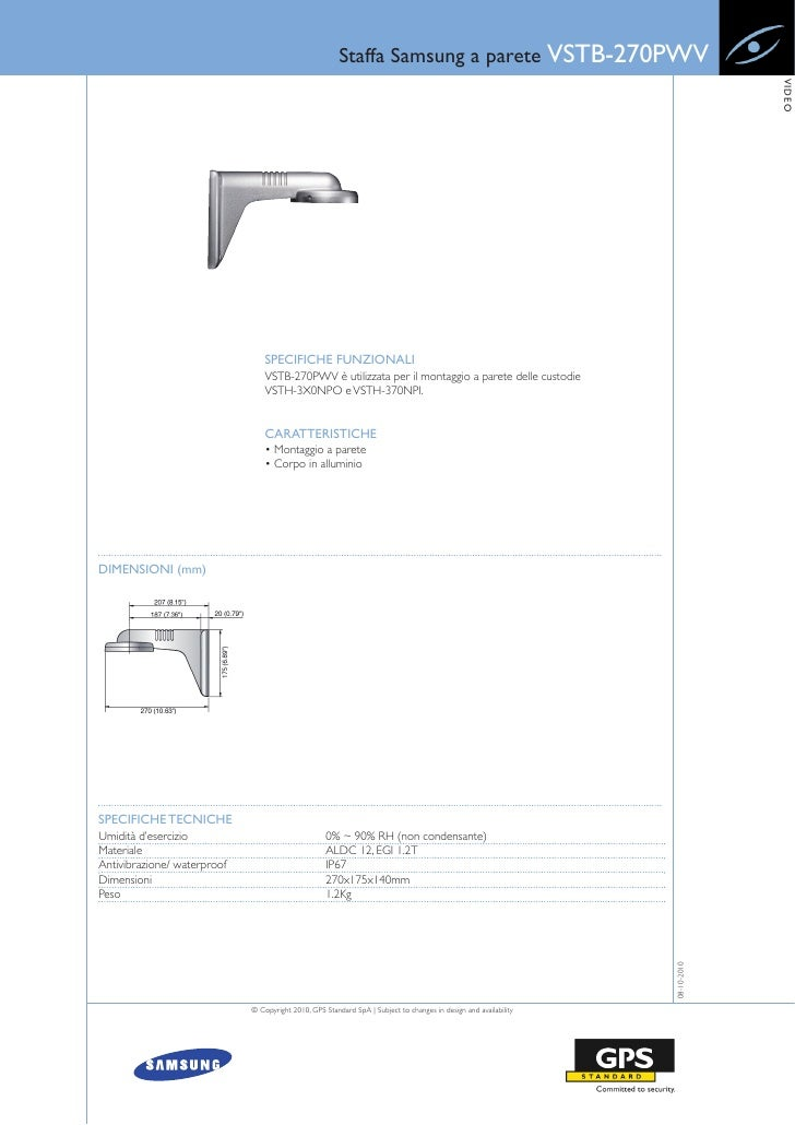 Staffa Samsung a parete VSTB-270PWV                                                                                       ...