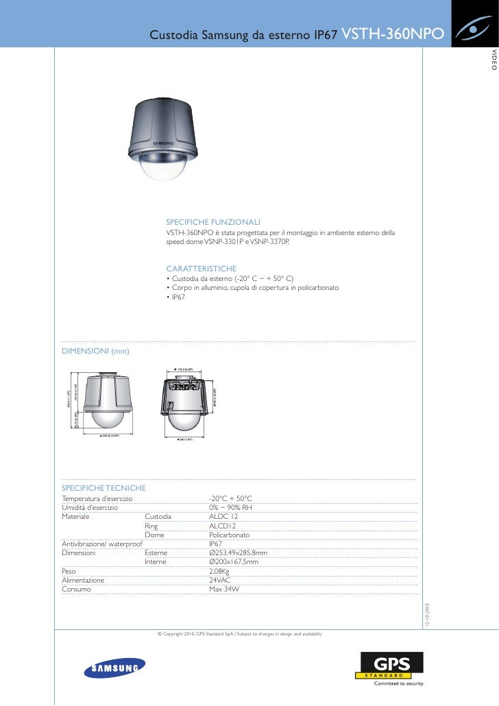 Custodia Samsung da esterno IP67 VSTH-360NPO                                                                              ...