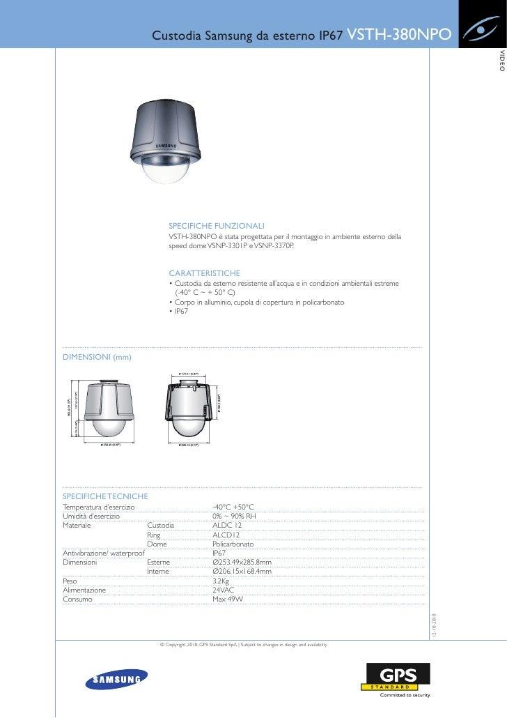 Custodia Samsung da esterno IP67 VSTH-380NPO                                                                              ...