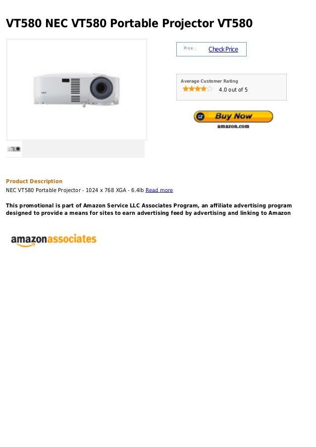 Vt580 nec vt580 portable projector vt580