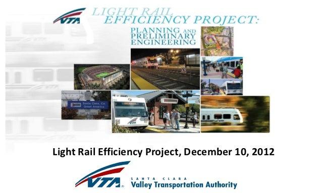 VTA LRT Efficiency December 10, 2012