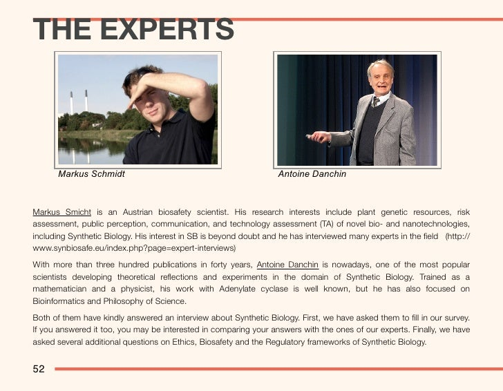 Sins, Ethics and Biology - The Experts