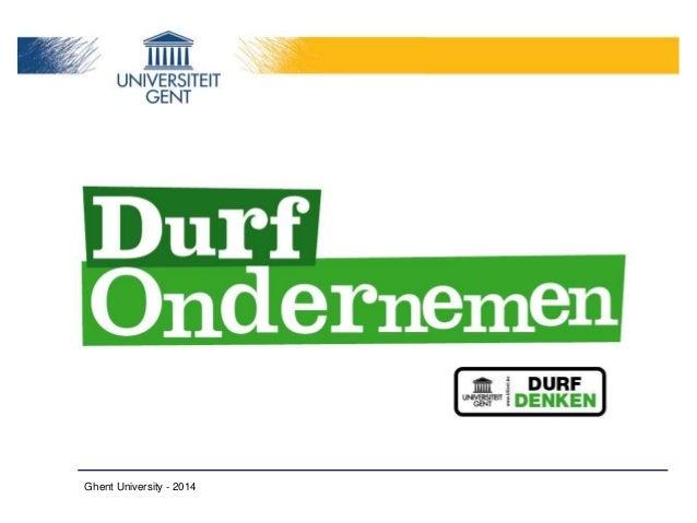Durf Ondernemen, Ghent University