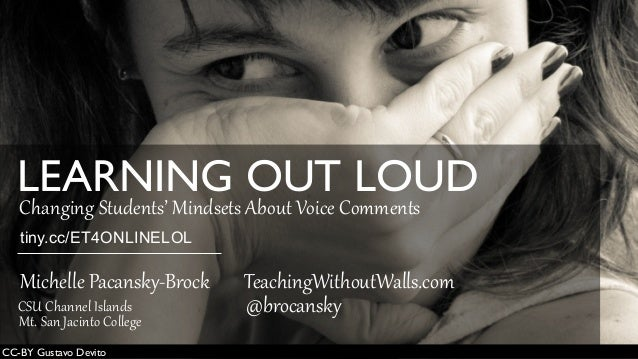 Learning Out Loud: Changing Students' Mindsets About Voice Comments