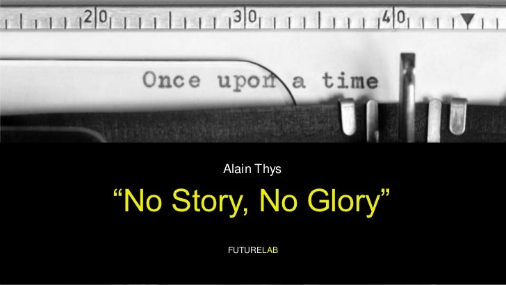 "Alain Thys<br />""No Story, No Glory""<br />FUTURELAB<br />"