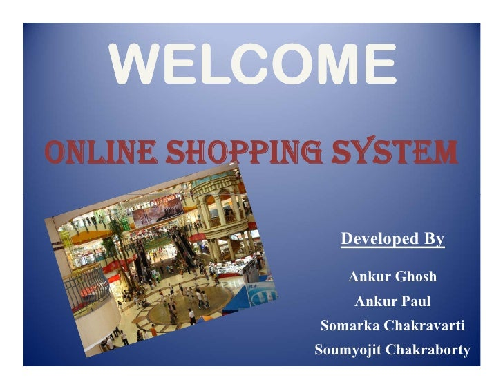 Online Shopping System PPT