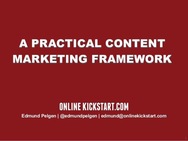 SMX Sydney 2014 A Practical Content Marketing Framework