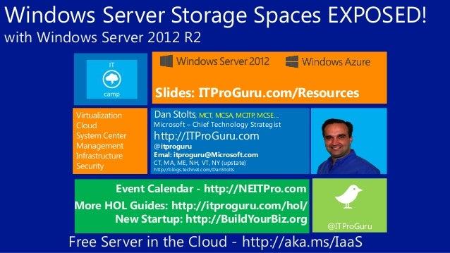 Vtug spring ahead Microsoft Storage Spaces by dan stolts (it pro-guru)