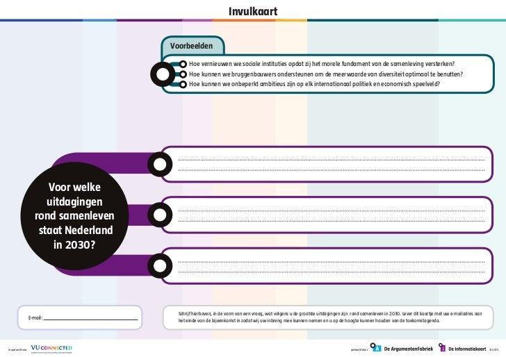 VU Connected - Invulkaart Wij in 2030
