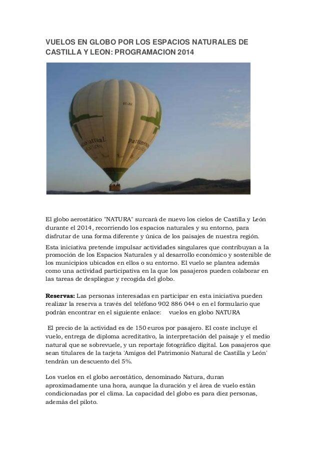 Vuelos en globo por los espacios naturales de Castilla y León