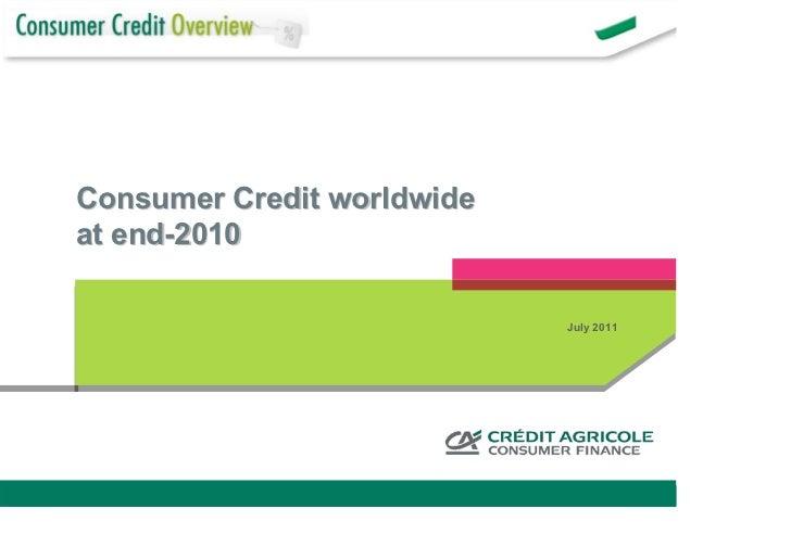 Consumer credit worldwide