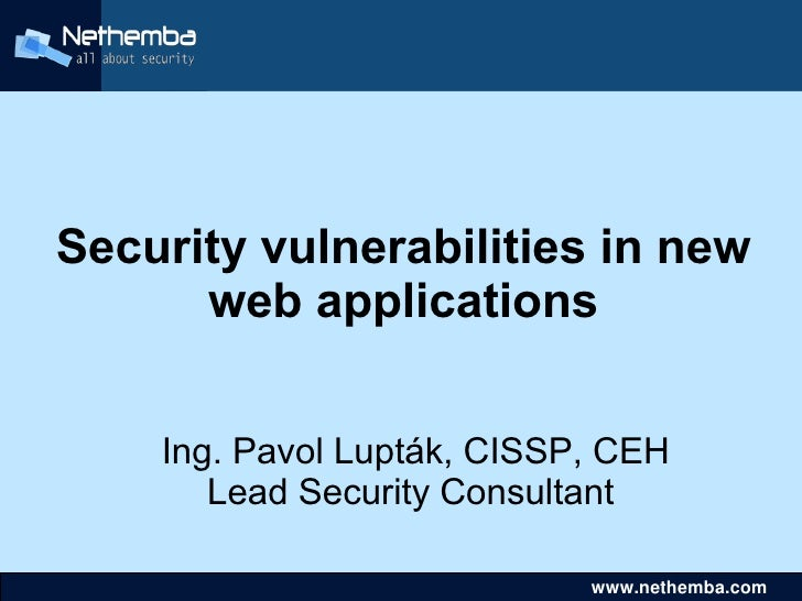 Vulnerabilities in new_web_applications-slides