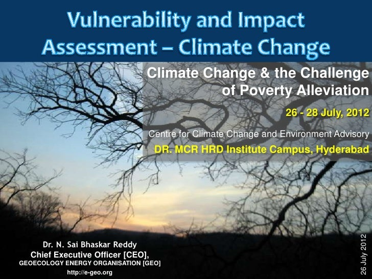 Vulnerability and Impact Assessment   climate change