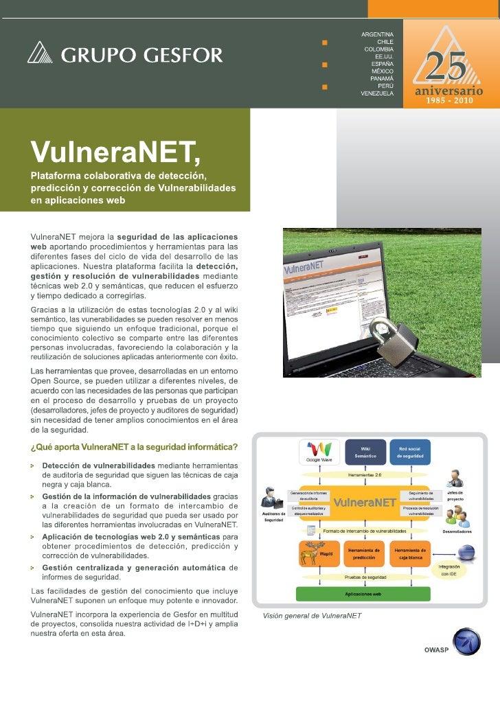 VulneraNET Brochure
