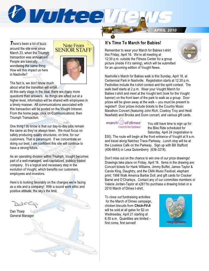 APRIL 2010   There's been a lot of buzz                                   It's Time To March for Babies! around the site e...