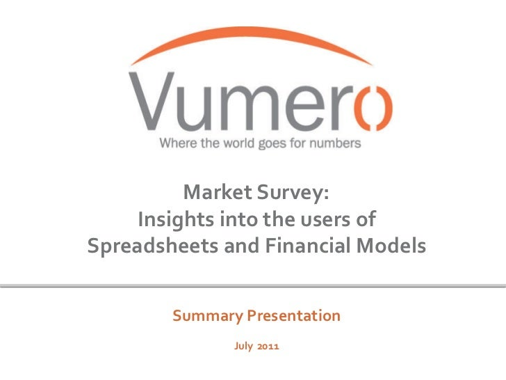Microsoft Excel and Financial Modeling - Global Survey Results (July 2011)