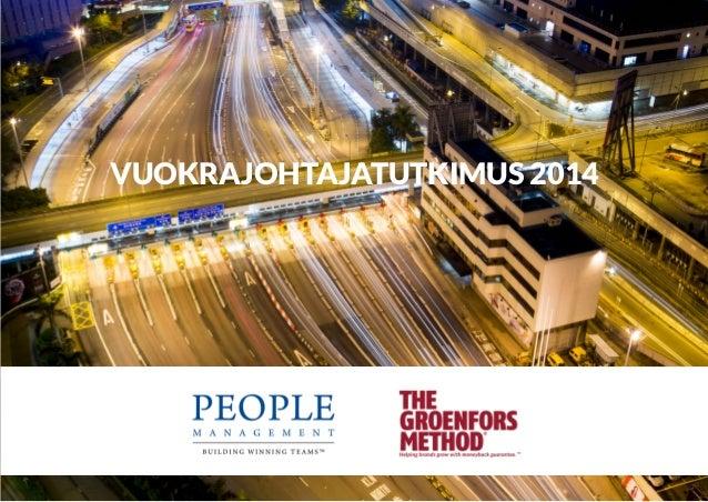 Vuokrajohtajatutkimus 2014