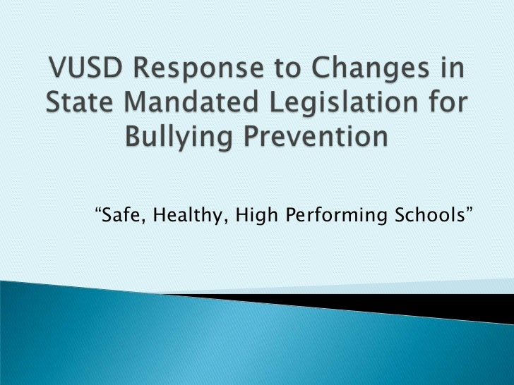 Vusd response to changes in state mandated legislation bd 2