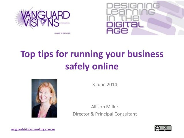 Top tips for running your business safely online - 030614