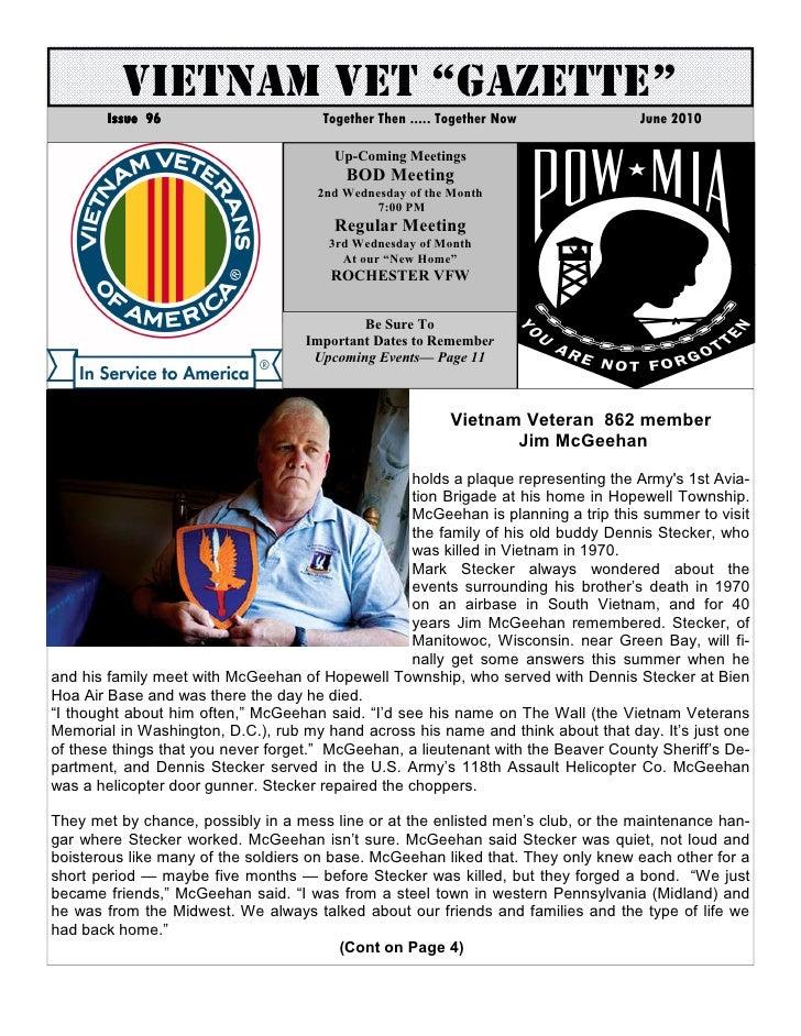 Vva chapter 862 june 2010 newsletter