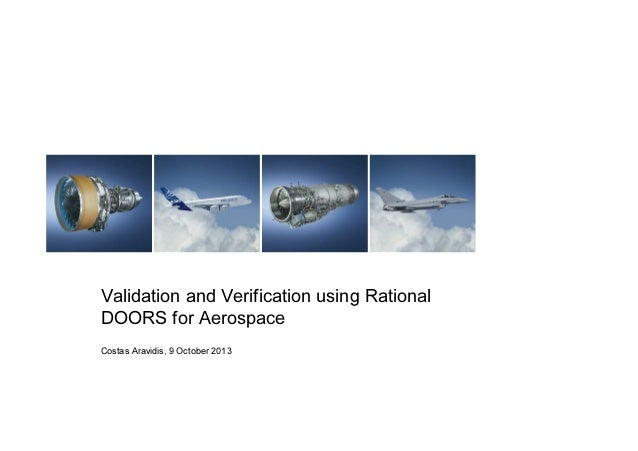 Validation and Verification using Rational DOORS for Aerospace