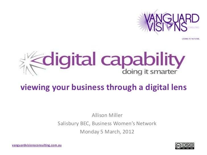 viewing your business through a digital lens                                            Allison Miller                    ...