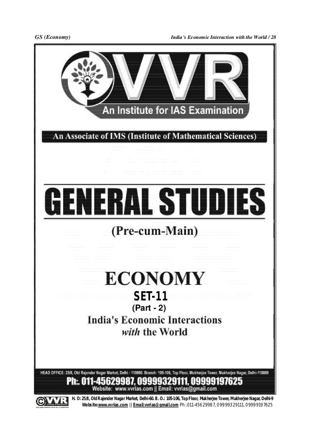 VVR Indias Economic Interaction With The World (Part-2)