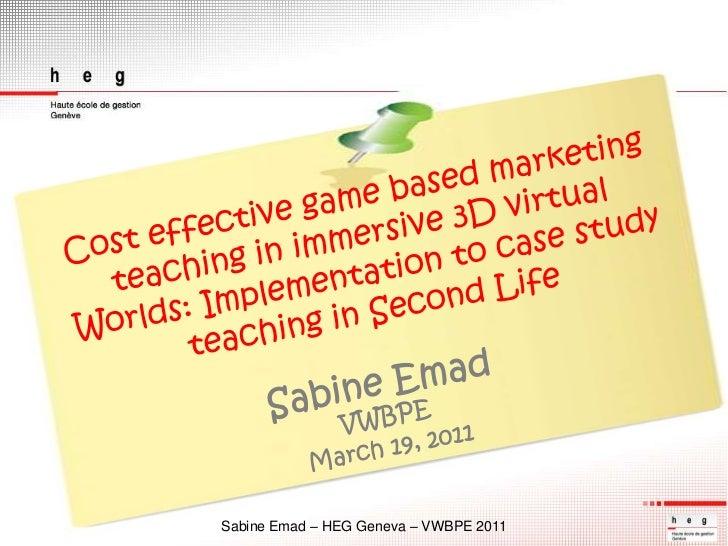 Vwbpe 2011 slides