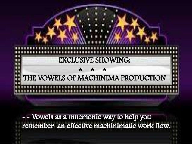 VWBPE 2013 The Vowels of Machinima Production