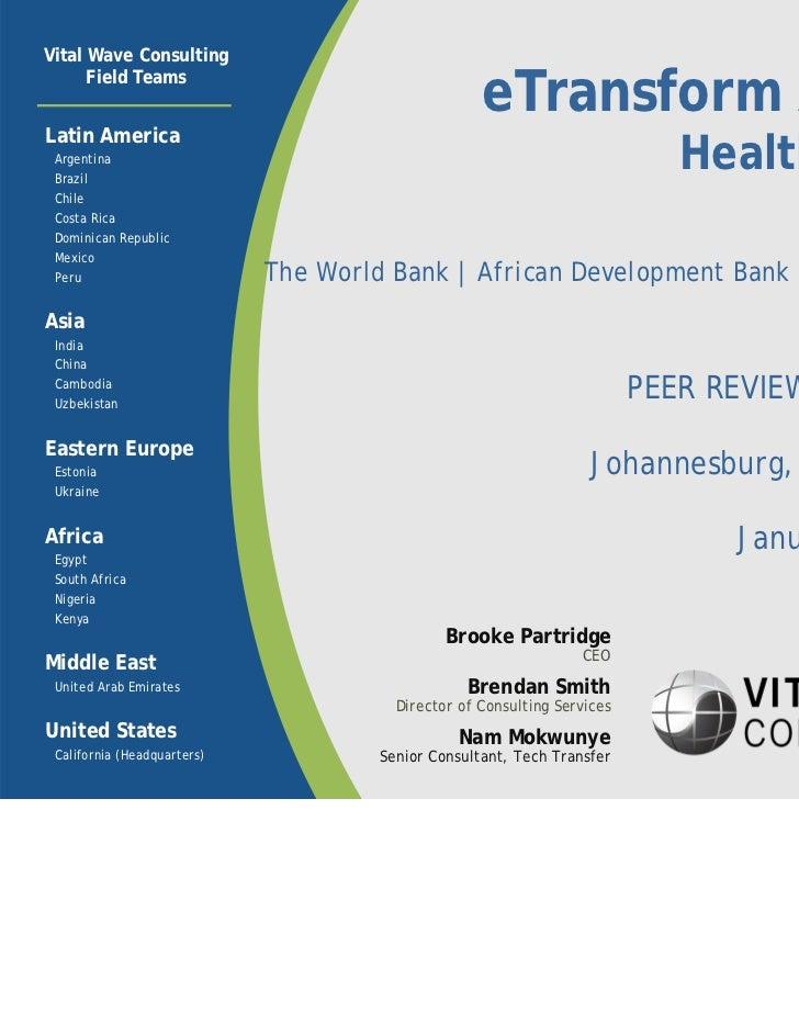 eTransform Africa: Health Sector