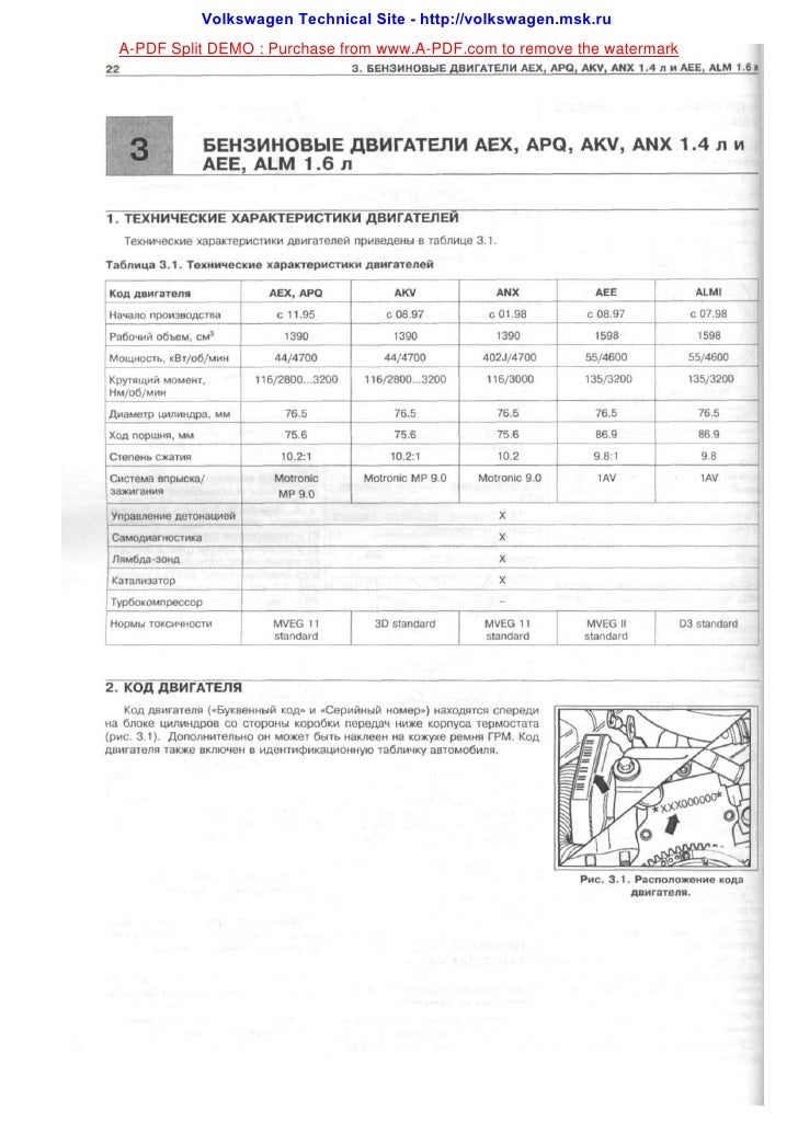 Volkswagen Technical Site - http://volkswagen.msk.ru A-PDF Split DEMO : Purchase from www.A-PDF.com to remove the watermark