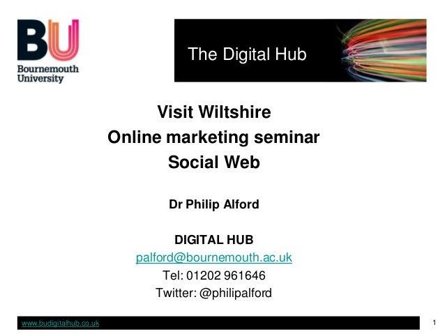 Visit Wiltshire Social Media seminar 131112