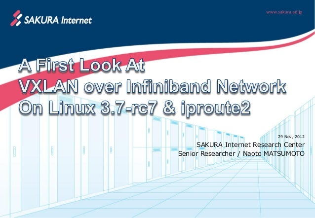 A First Look At VXLAN over Infiniband Network On Linux 3.7-rc7 & iproute2