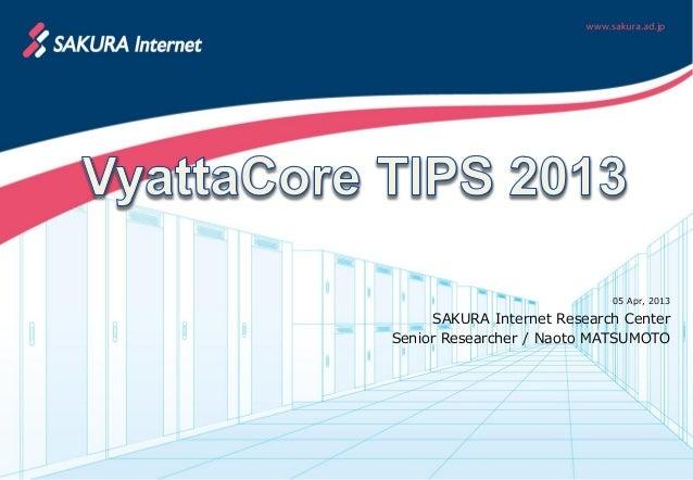 VyattaCore TIPS2013