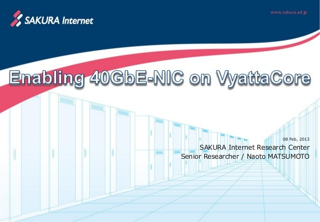 Enabling 40GbE-NIC on VyattaCore