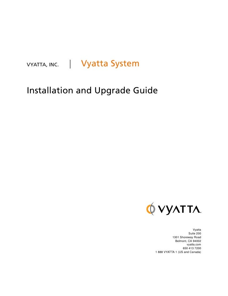 Vyatta Installation And Upgrade Vc5 V01