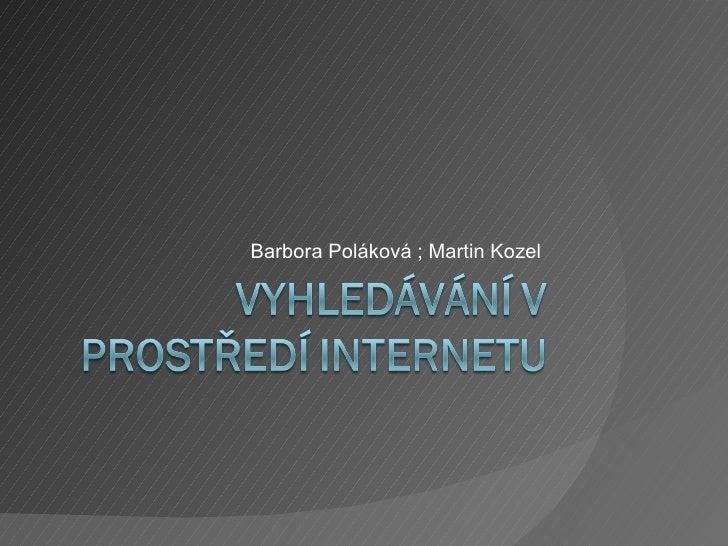 Vyhledavani v prostredi Internetu