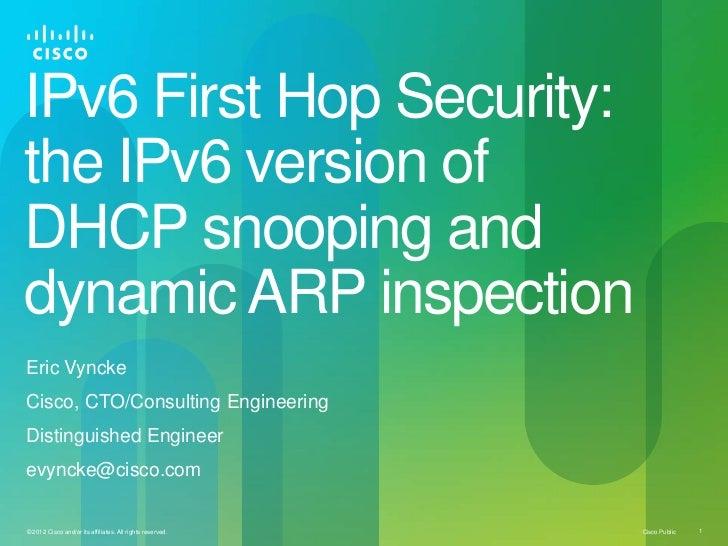 Eric Vyncke - Layer-2 security, ipv6 norway
