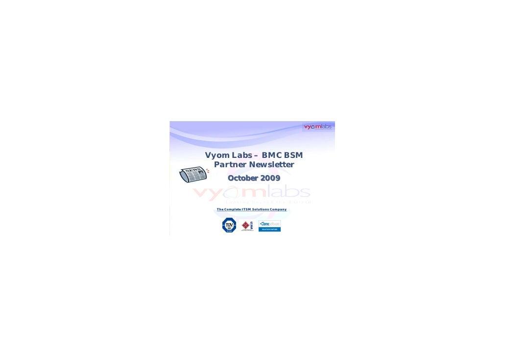 Vyom Labs   Bmc Bsm   Partner Newsletter   October 2009